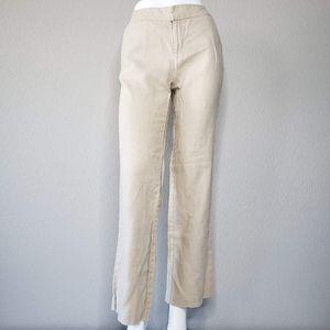 Eddie Bauer | 100% Linen Ivory Vashon Fit Pants 4